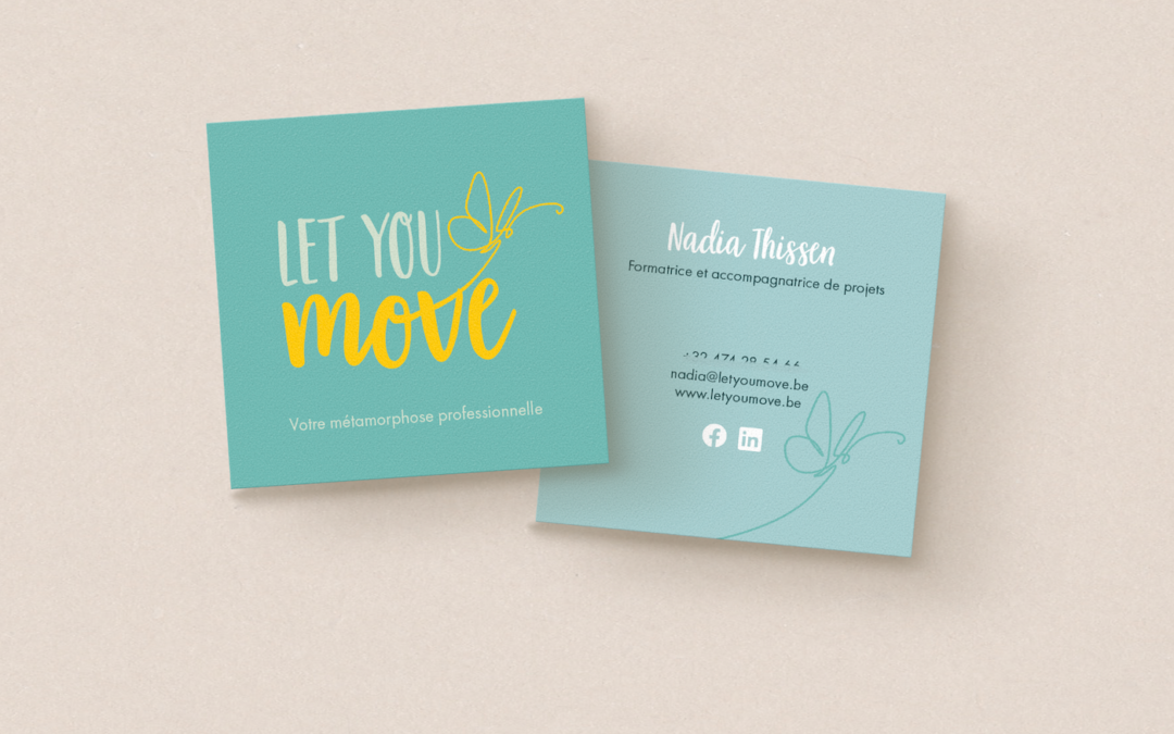 Logo & cartes de visite: Let You Move